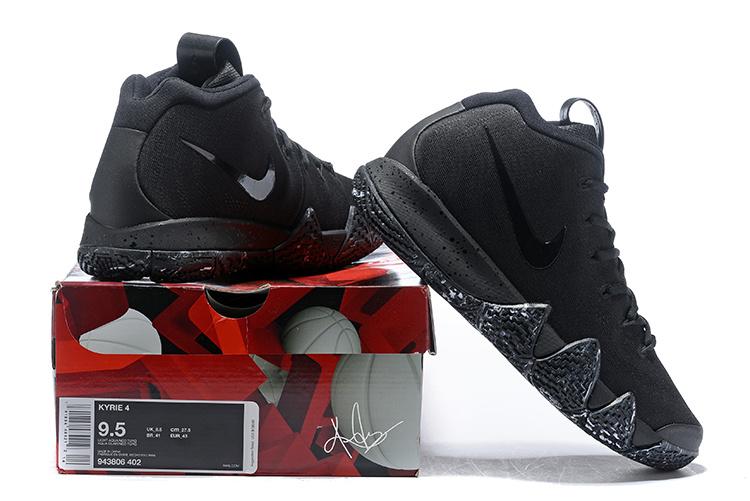 88a15437cd8a Nike Kyrie 4 Triple Black Men s Basketball Shoes NIKE-ST004705 ...