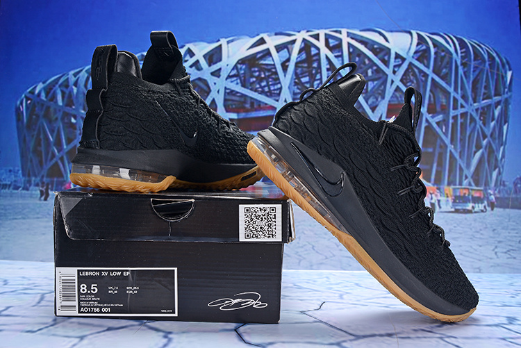 Nike LeBron 15 Low Black Gum AO1756 001 James Men s Basketball Shoes ... e46caabfa