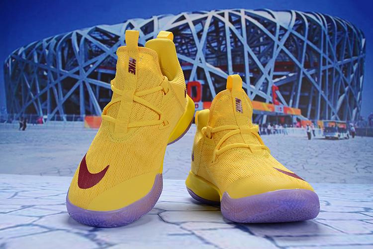 8749f3b5533c Nike Zoom Shift 2 EP II University Gold Red Men s Basketball Shoes ...