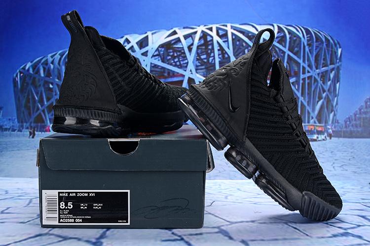 476f2183ede Nike LeBron 16 EP Triple Black AO2588 054 Men s Basketball Shoes ...