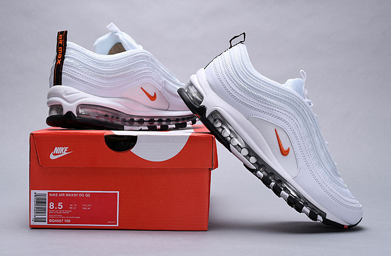 san francisco 7f9c2 aaa35 Nike Air Max 97 Cone white / orange BQ4567-100 Women's Men's Casual Shoes  BQ4567-100A