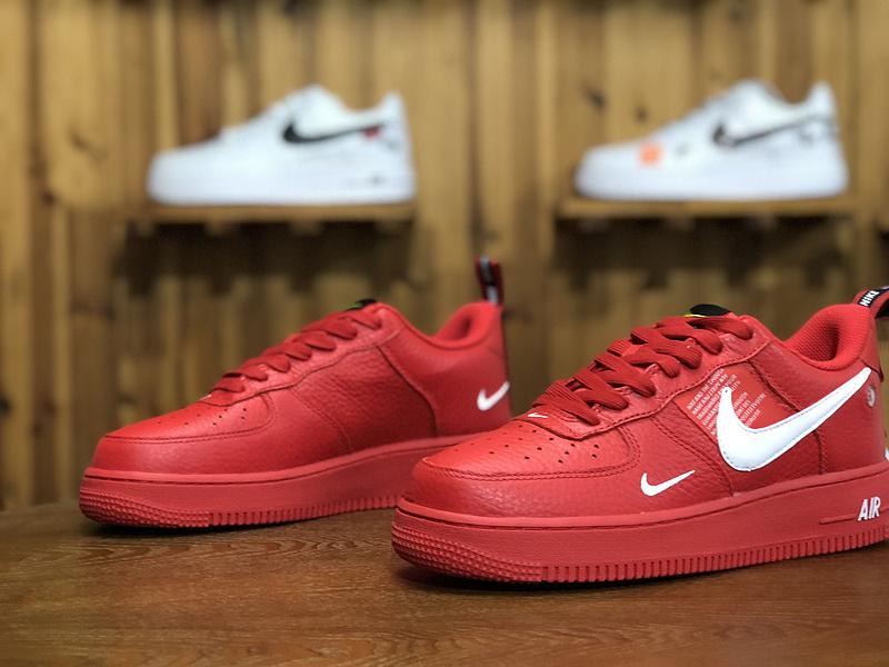 quality design 062e6 7814f Nike Air Force 1  07 LV8 Utility Red White AJ7747-600 Women s Men s