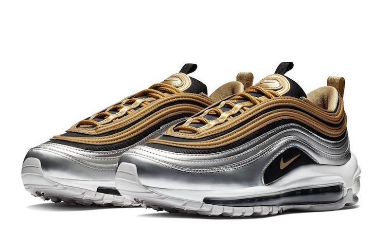 quality design 67178 d19b1 Nike Air Max 97 Metallic Silver-Metallic Gold AQ4137 700 Women's Men's  Winter Casual Shoes AQ4137-700