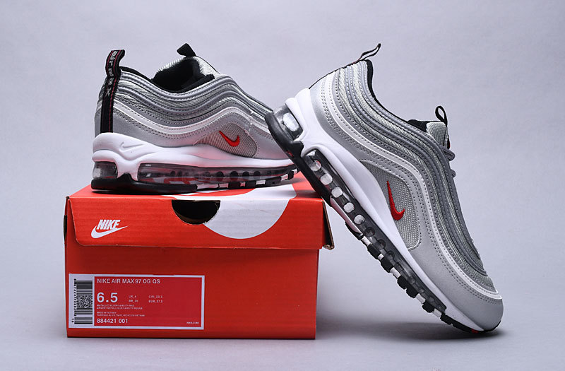 98d66c71e58 Nike Air Max 97 Og Qs Silver Bullet Metallic Silver 884421 001 Black Friday  Women s Men s Casual Shoes 884421-001