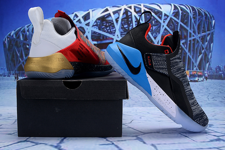 568ed6efba7 Nike LeBron Ambassador 11 LBJ Black Grey White Red Blue Gold Men s ...