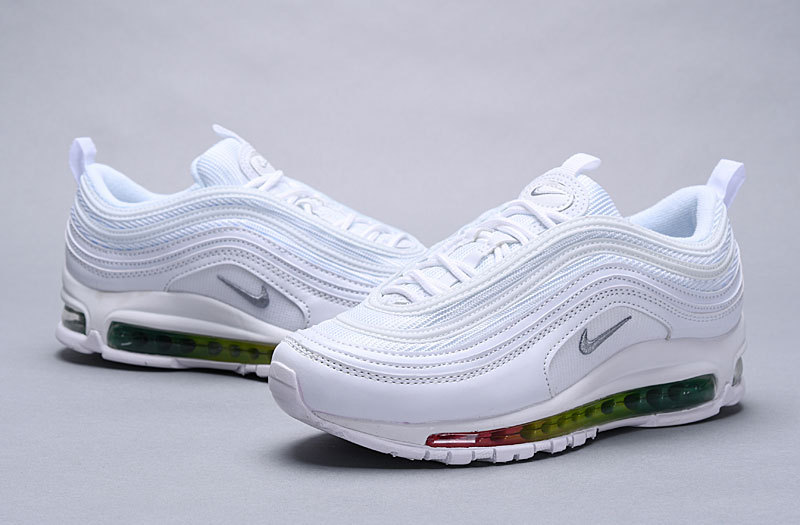 best shoes stable quality various styles Nike Wmns Air Max 97 Premium White Multi-Color 917646 111 Women's Men's  Casual Shoes 917646-111