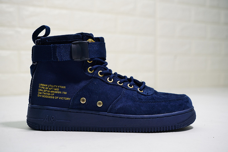 finest selection 8d18d 472a0 Nike SF Air Force 1 Mid '17 Obsidian/Black 917753-400 Men's Casual Shoes  Sneakers 917753-400