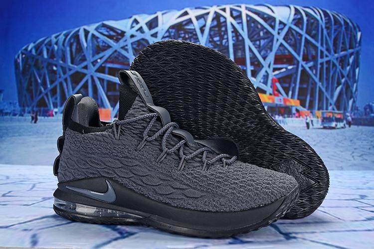 a34cae9b96e Nike LeBron 15 Low Wolf Grey Cool Grey AO1756 604 James Men s ...