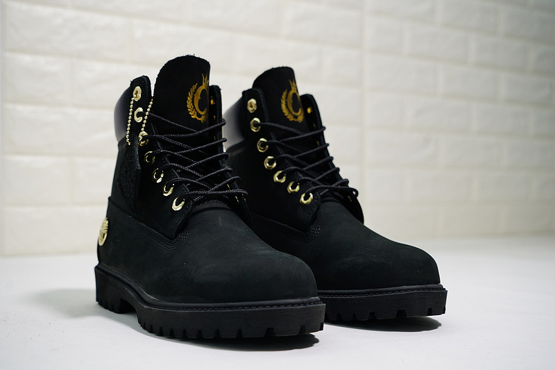 888ce9b5b9f Timberland Premium 6 Inch Leather Boots 10061 Gold Crown Black Gold Mens  Waterproof Boots