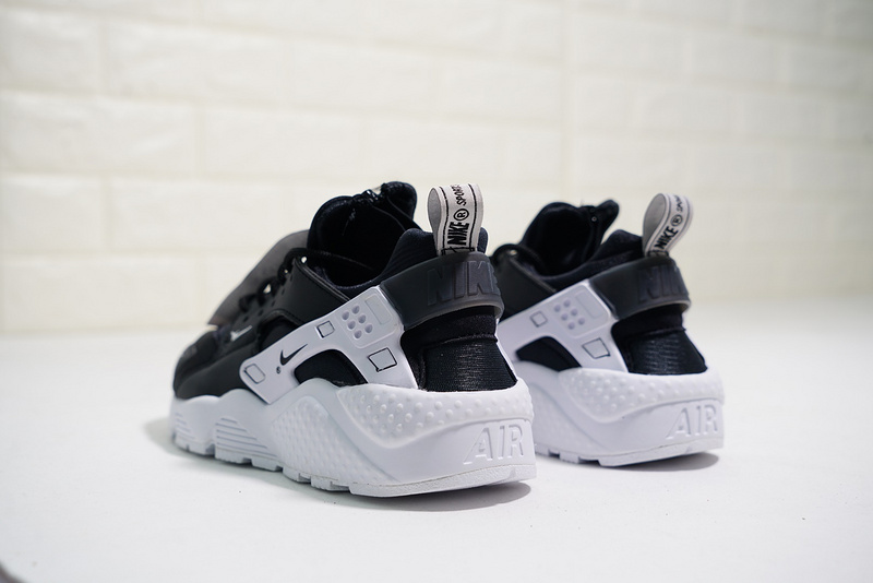 online store 9edb6 dc800 Nike Air Huarache Run Zip QS Black/White BQ6164-001 Men's Women's Casual  Shoes BQ6164-001a