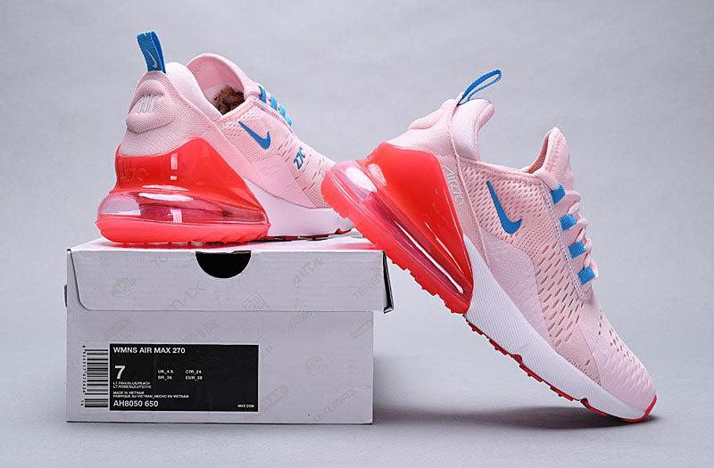 Nike Air 270 Flyknit White Green AH8050 300 Men's Running Shoes Sneakers AH8050 300