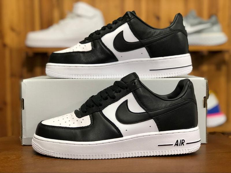 22f65b06cdb Nike Air Force 1 Low Tuxedo White Black AQ4134-100 Men s Sneakers ...