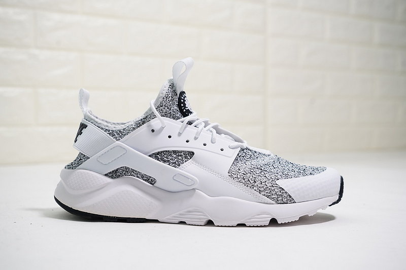 Nike Air Huarache Ultra Flyknit Id Black Grey White Ah6758 001 Men S Women S Casual Shoes Ah6758 001