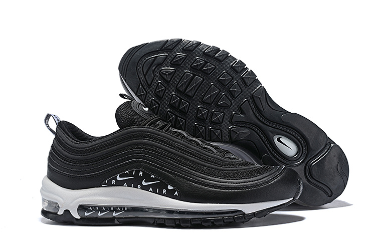 Nike Air Max 97 Swoosh Air Logos BlackWhite AR7621 001 Men's Casual Shoes AR7621 001