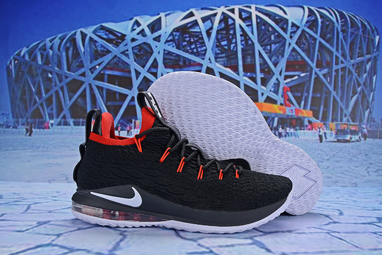 separation shoes e5932 26cfd Nike LeBron 15 Low Black Red White AO1755 608 James Men's Basketball Shoes  AO1755-608