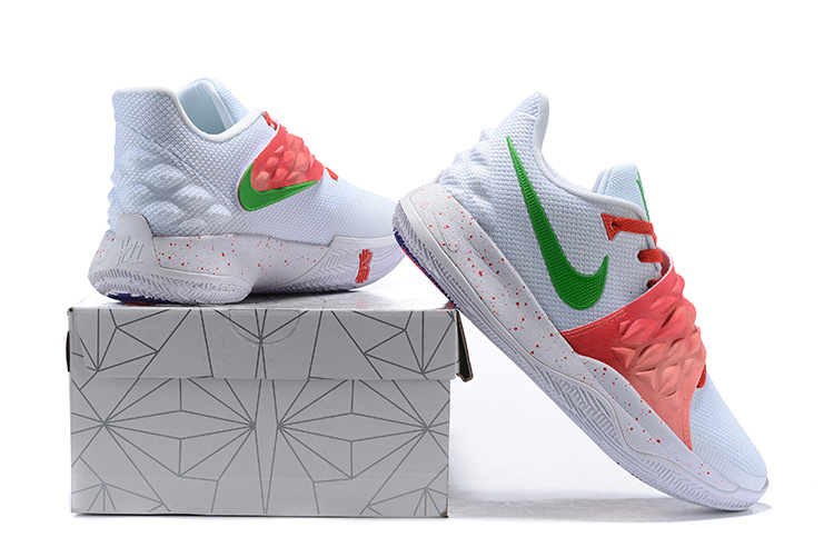 buy online 789c5 92fc0 Nike Kyrie Low White Red Green Men's Basketball Shoes NIKE-ST004716