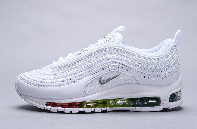 Nike Wmns Air Max 97 Premium White Multi Color 917646 111 Women's Men's Casual Shoes 917646 111