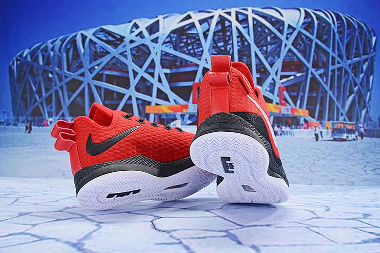 f7b0a2031326 Nike LeBron Witness III Red Black White Men s Basketball Shoes NIKE ...