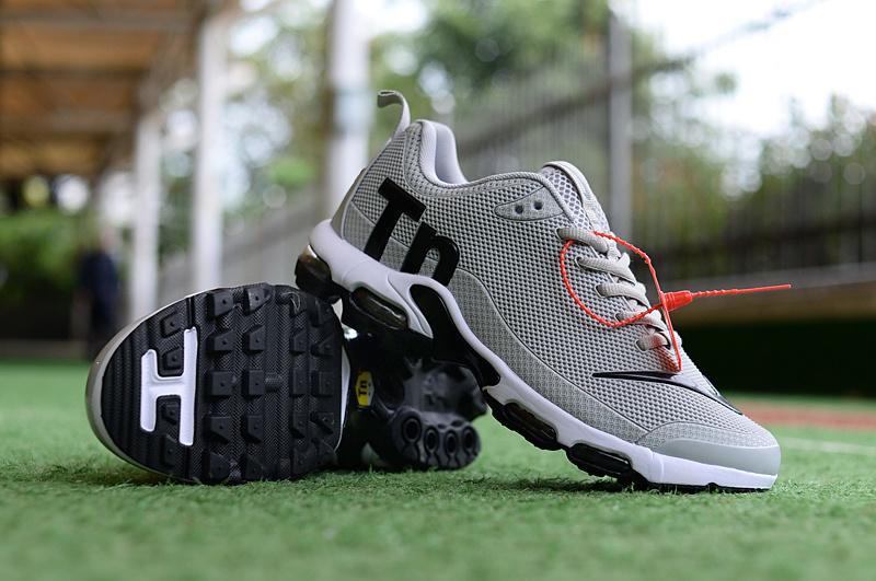 c31665f24 Mens Nike Mercurial Air Max Plus Tn TPU Wolf Grey Black White Running Shoes