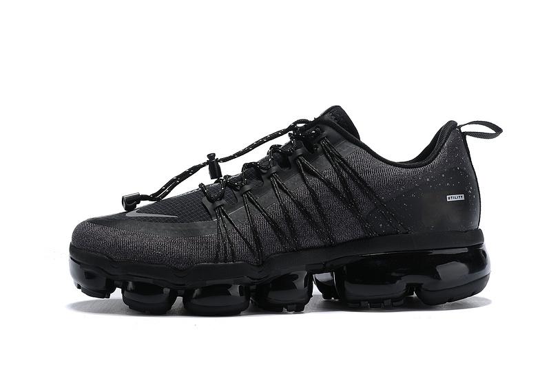 9c1eb802c17 Nike Air VaporMax Run FlyKnit Utility Triple Black Men s Running ...