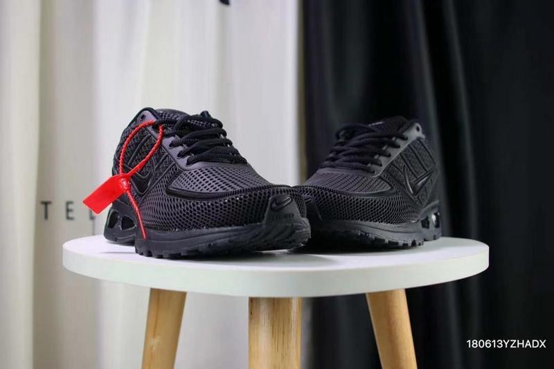 5b35e34b94 Nike Air VaporMax Flyknit 5K Kpu Triple Black Men's Running Shoes ...
