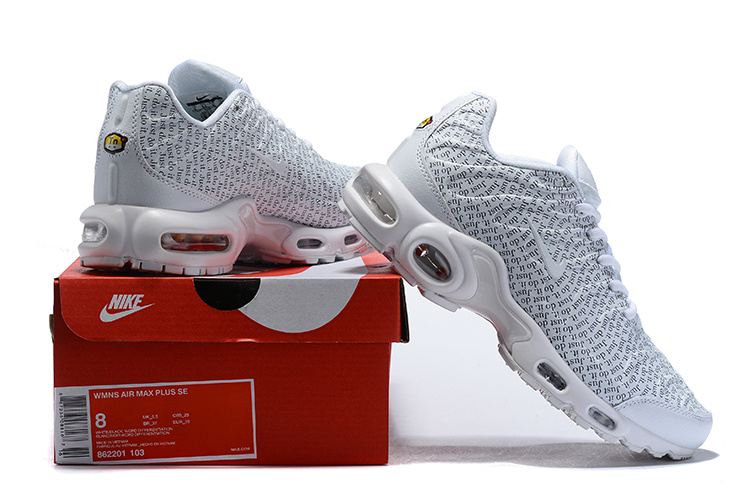 565d8eb271 Nike Air Max Plus SE TN Just Do It White/White/Black/White 862201 ...