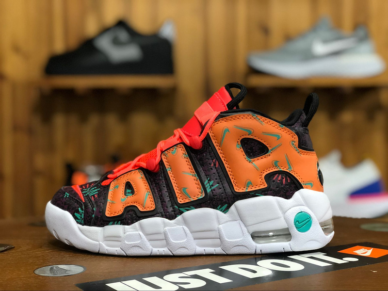 30526b58209f92 Nike Air More Uptempo What The 90s total orange black-hyper jade ...