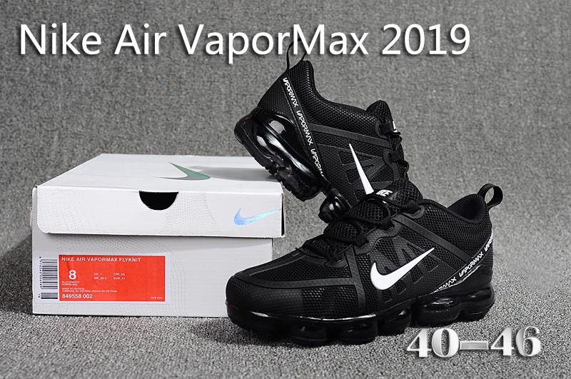 82a4fed79bb12 Nike Air VaporMax 2019 KPU Black White 849558 002 Men s Running ...