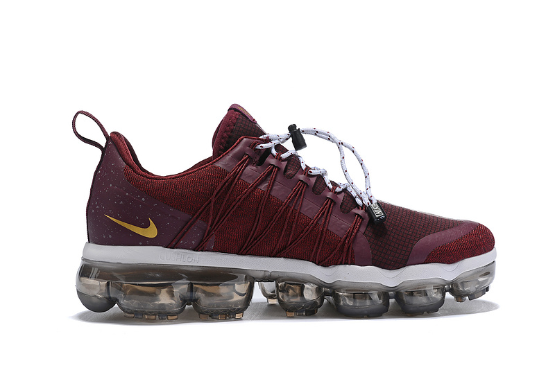 best sneakers 0681f 576fd Nike Air VaporMax Run FlyKnit Utility Burgundy White Men s Running Shoes
