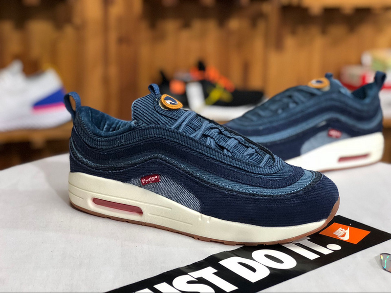 cc8a04cc42 Nike Air Max 97/1 Sean Wotherspoon Cowboy Blue Men's Winter Casual Shoes