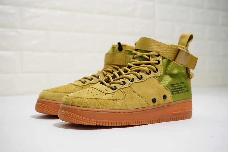 736740be0a674c Nike SF Air Force 1 Mid  17 Desert Moss Desert Moss Gum Med Brown ...