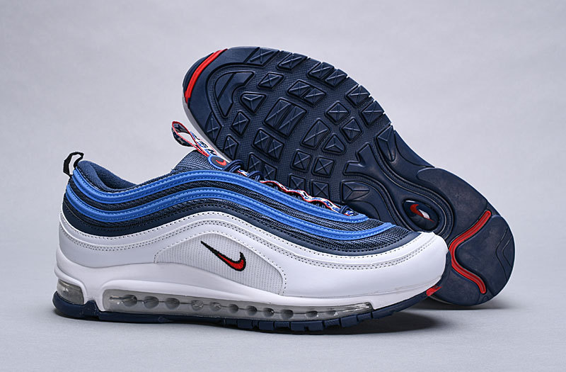 Nike Air Max 97 OG QS White Blue Red 884421 001 Men's Casual Shoes NIKE ST004744