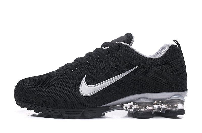 7cf4ed6fc6709 Nike Air Shox Flyknit Black Silver Men s Running Shoes NIKE-ST004592 ...