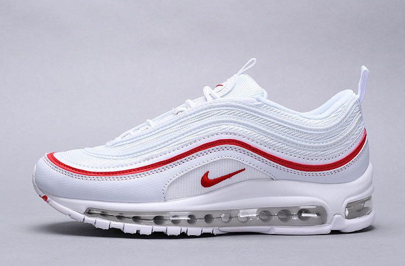 quality design 9fe49 8d323 Nike Air Max 97 OG Pure Platinum University Red White AR5531 002 Women's  Men's Casual Shoes AR5531-002A