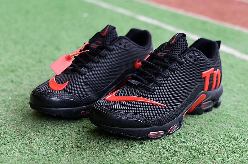 huge selection of 4b76d ff93f Mens Womens Nike Mercurial Air Max Plus Tn TPU Black Red Running Shoes  NIKE-ST004662