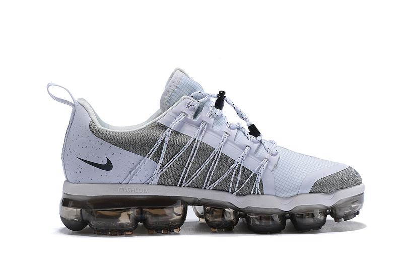 6bf7073d38 Nike Air VaporMax Run FlyKnit Utility White Cool Grey Men's Running Shoes