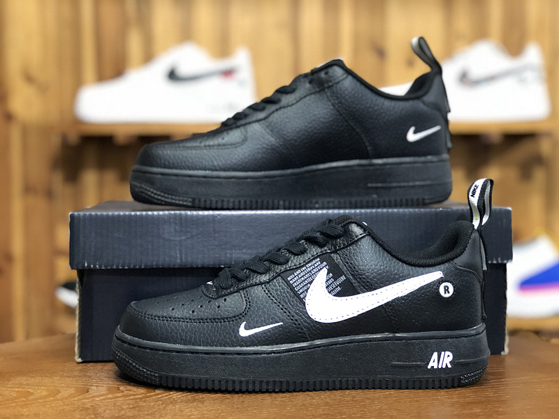 separation shoes aaaec a6138 Nike Air Force 1 07 LV8 Utility Pack Black White-Black-Tour Yellow