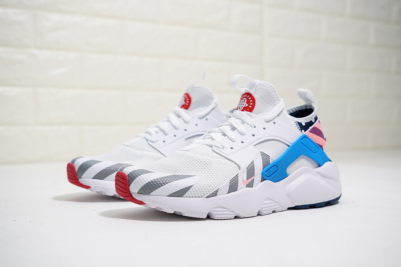 separation shoes 18a2a 22b33 Nike Air Huarache Run Ultra Textile White/Multi-Color 847568-100 Men's  Women's Casual Shoes 847568-100