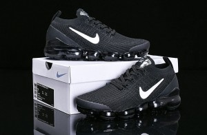 1402ab4f720 Nike Air Vapormax Flyknit 2019 Black White AJ6900-001 Women s Men s Running  Shoes