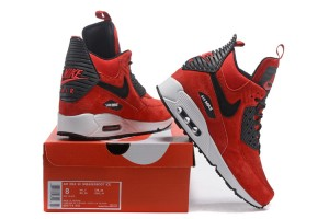 new style 93742 10664 Nike Air Max 90 Winter Sneakerboot Red Black 684714 018 Men s Running Shoes  Sneakers