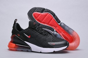 detailed pictures 6a9c6 37abe Nike Air Max 270 Black Red White Spectrum Women s Men s Casual Shoes