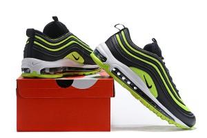 brand new da616 f4a5d Men s Nike Air Max 97 Black Neon Green Casual Shoes