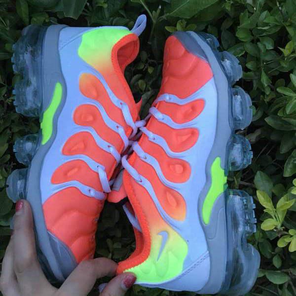 quality design 39493 ee0c7 Nike Air VaporMax Plus TN Orange Cool Grey Women's Running Shoes  NIKE-ST005157