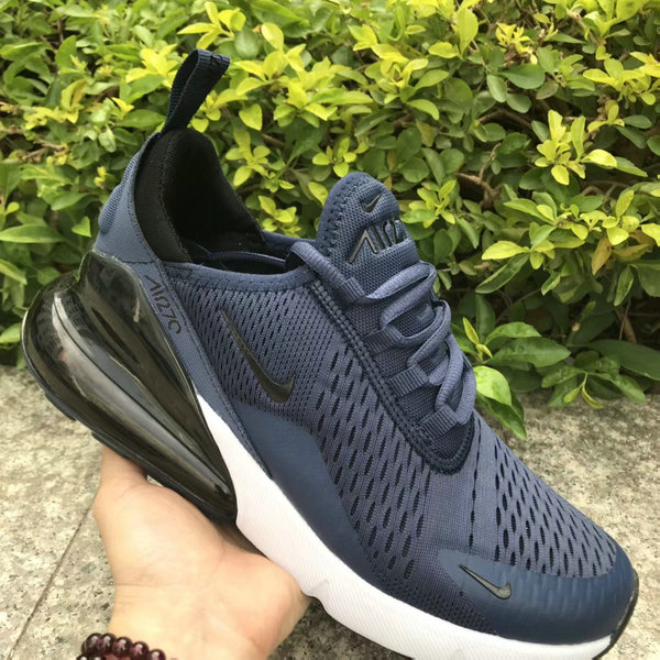 cheap for discount 80952 c200b Nike Air Max 270 Navy Blue White Black Men's Casual Shoes NIKE-ST005238