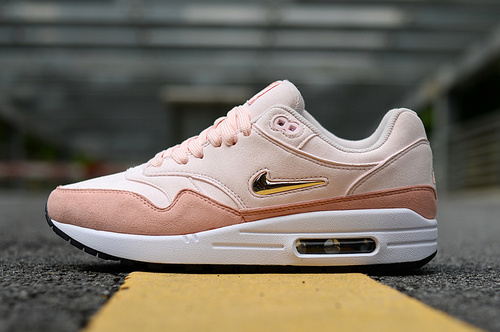 promo code 189c1 64503 Nike Air Max 87 Rose Pink White Gold Women s Casual Shoes Sneakers