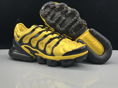 huge discount 144df e2063 Nike Air Max 270 TN Plus Black Yellow Men's Running Shoes NIKE-ST005218