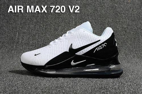 timeless design 0a851 c27c1 Nike Air Max 720 V2 Kpu White Black AH8050 001 Men s Casual Shoes