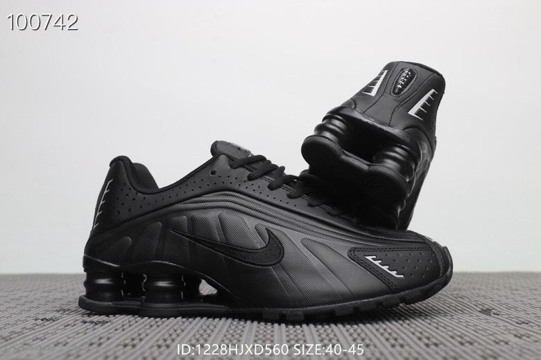 d637c49d6c2 Nike Shox R4 Triple Black Men s Running Shoes NIKE-ST005225 ...