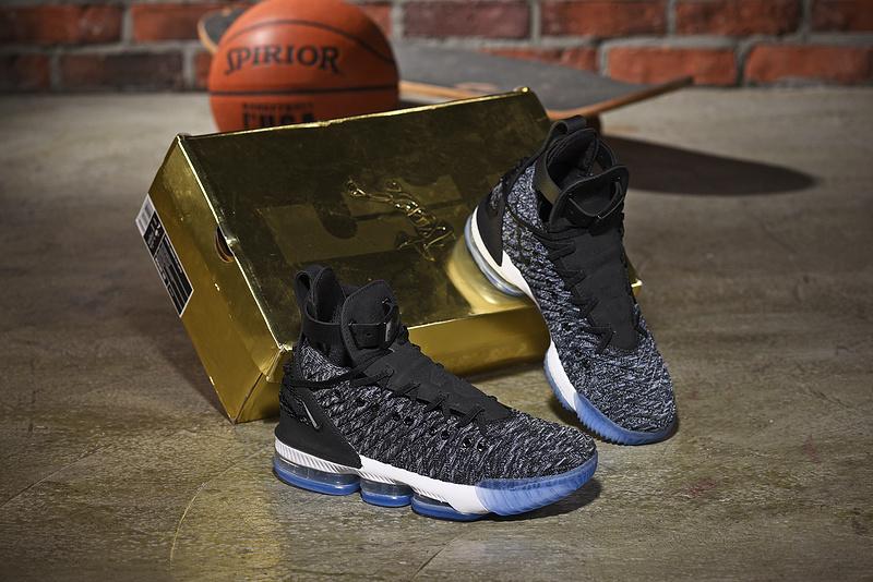 86a997ecaad Nike LeBron 16 HFR Harlem s Black White Oreo Men s Basketball Shoes ...