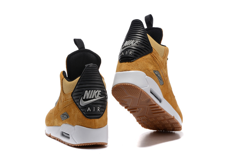 f2dd2a7c8d Nike Air Max 90 Winter Sneakerboot Wheat Black White 684714 017 Men's  Running Shoes Sneakers
